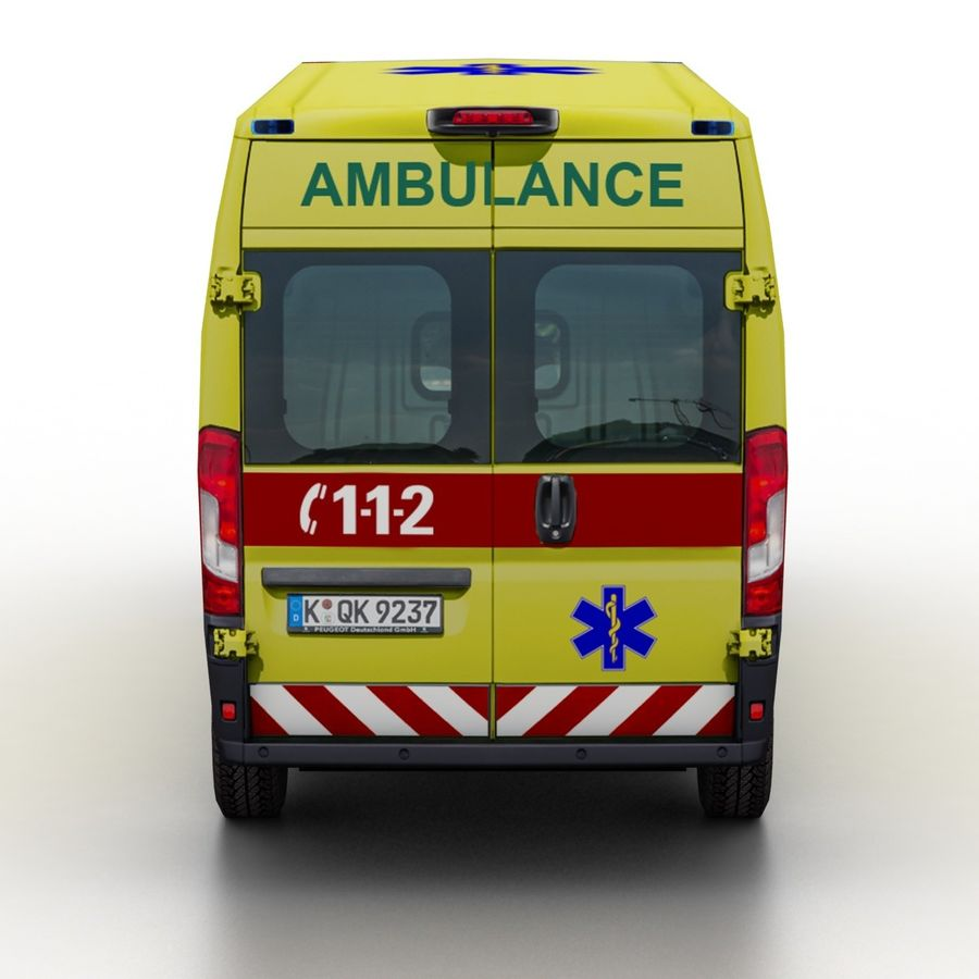 Peugeot Boxer Emergency Ambulance 2015 royalty-free 3d model - Preview no. 5