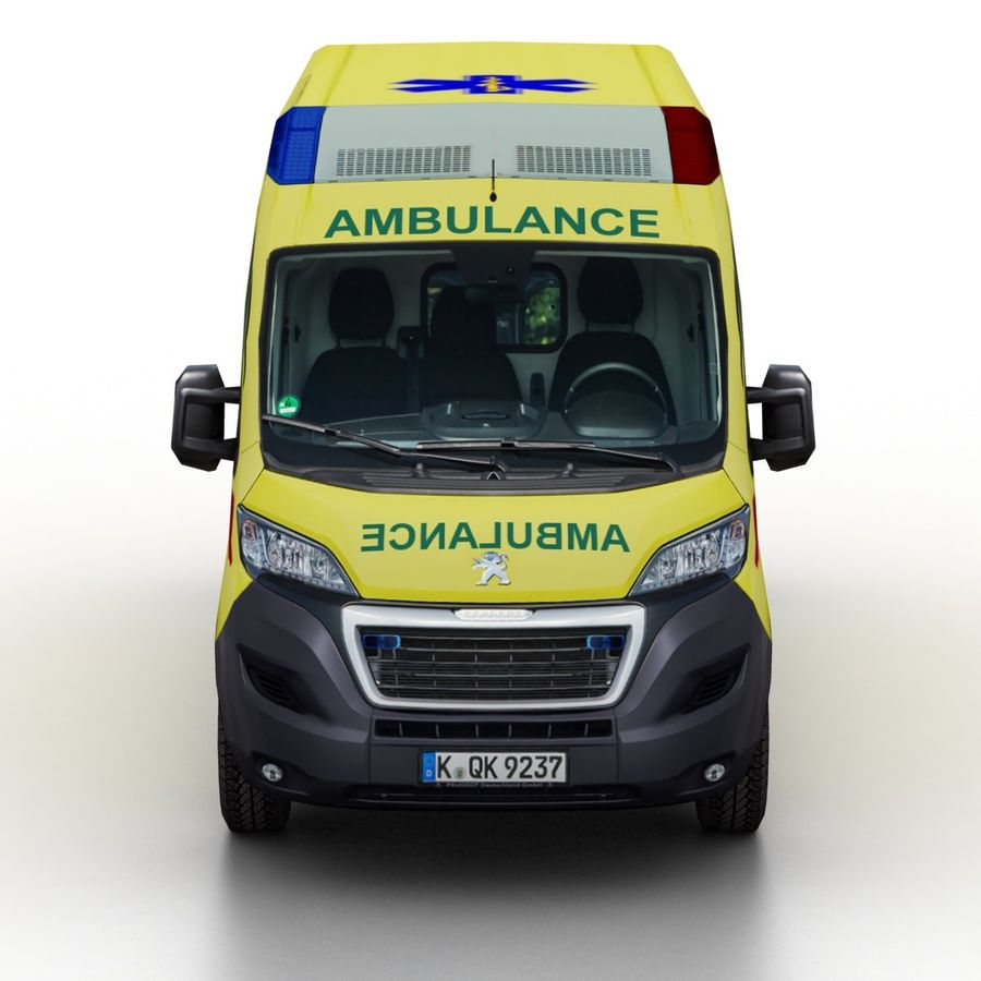 Peugeot Boxer Emergency Ambulance 2015 royalty-free 3d model - Preview no. 4
