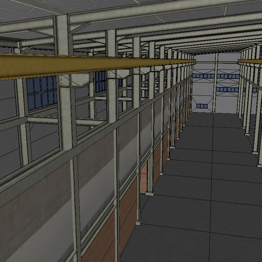 Hangar royalty-free 3d model - Preview no. 11
