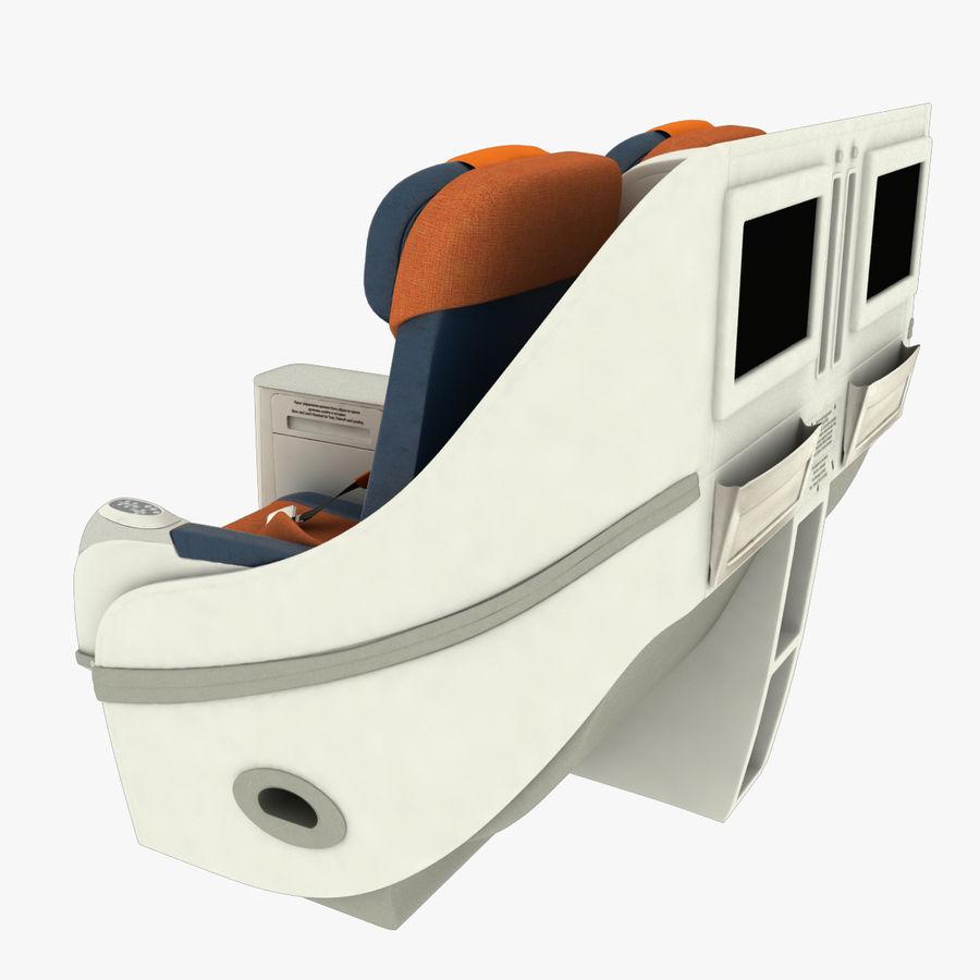 シート航空機 royalty-free 3d model - Preview no. 6