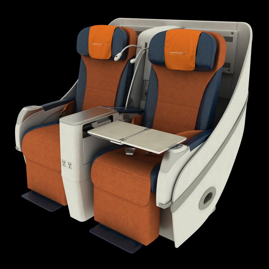 シート航空機 royalty-free 3d model - Preview no. 1