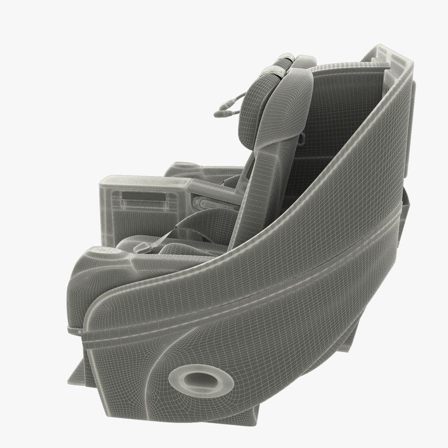 シート航空機 royalty-free 3d model - Preview no. 13