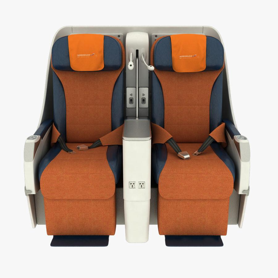 シート航空機 royalty-free 3d model - Preview no. 3