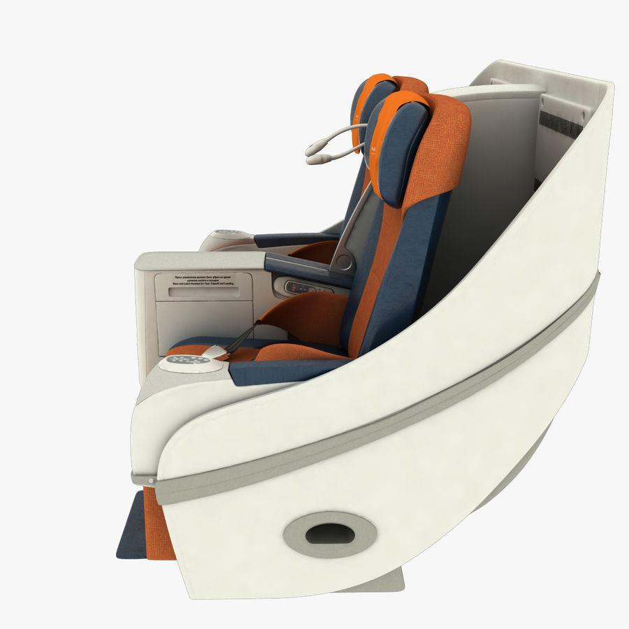 シート航空機 royalty-free 3d model - Preview no. 8