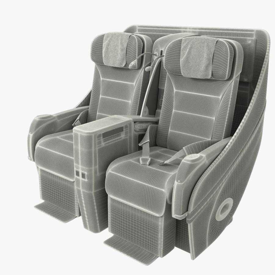 シート航空機 royalty-free 3d model - Preview no. 14