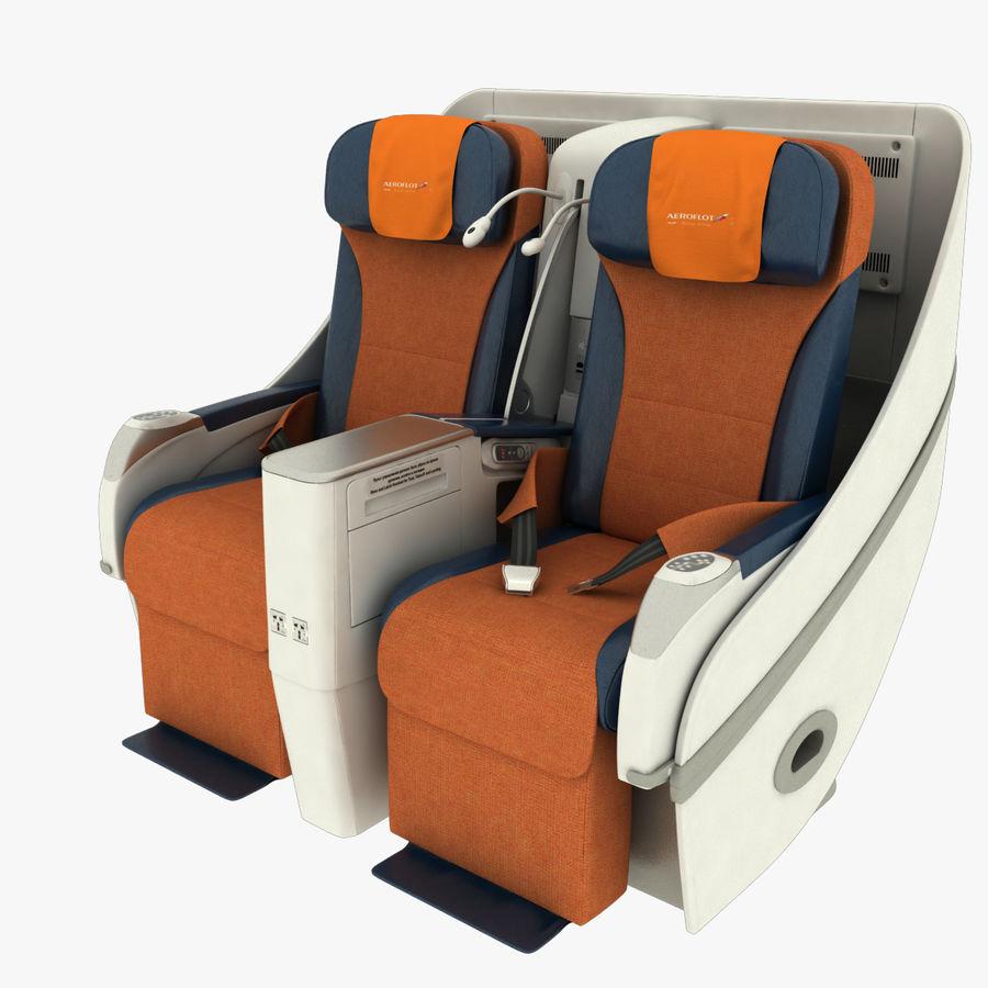 シート航空機 royalty-free 3d model - Preview no. 2