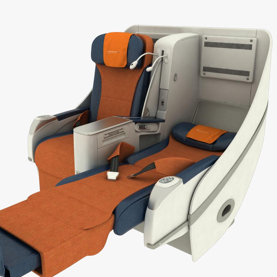シート航空機 royalty-free 3d model - Preview no. 9