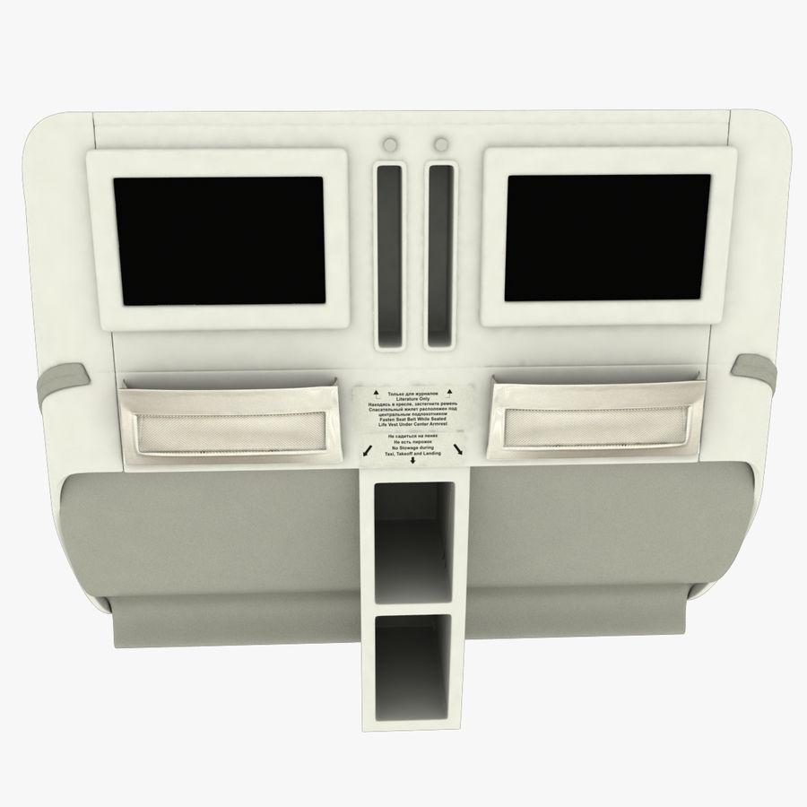 シート航空機 royalty-free 3d model - Preview no. 7