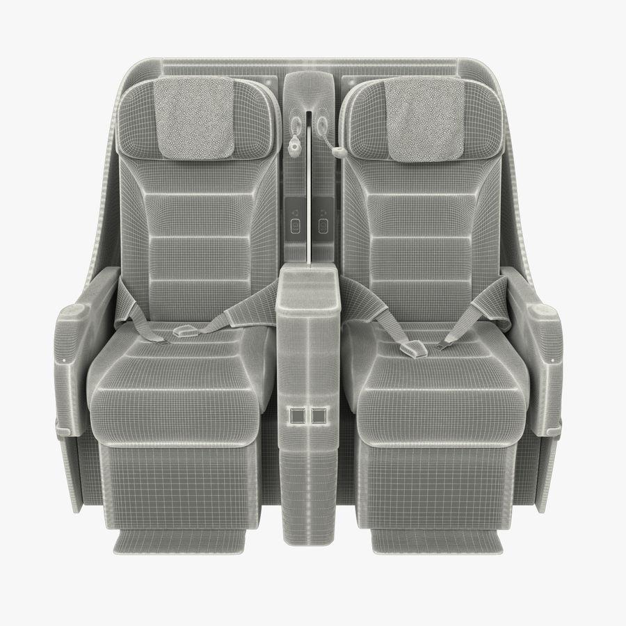 シート航空機 royalty-free 3d model - Preview no. 10