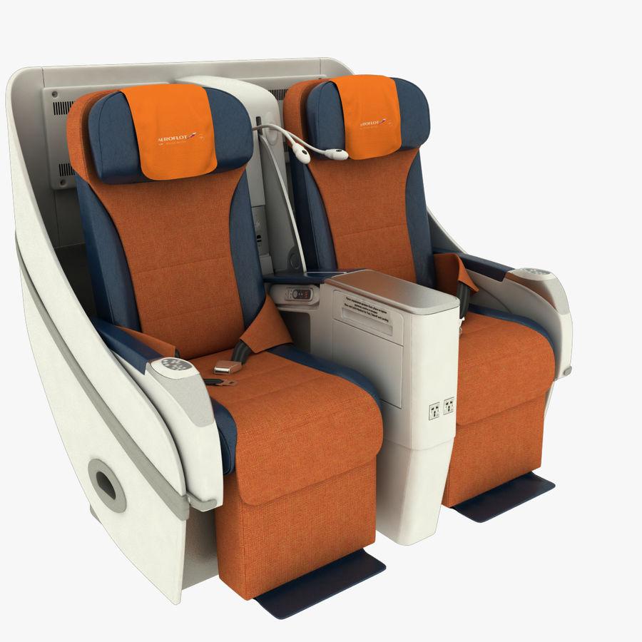 シート航空機 royalty-free 3d model - Preview no. 4
