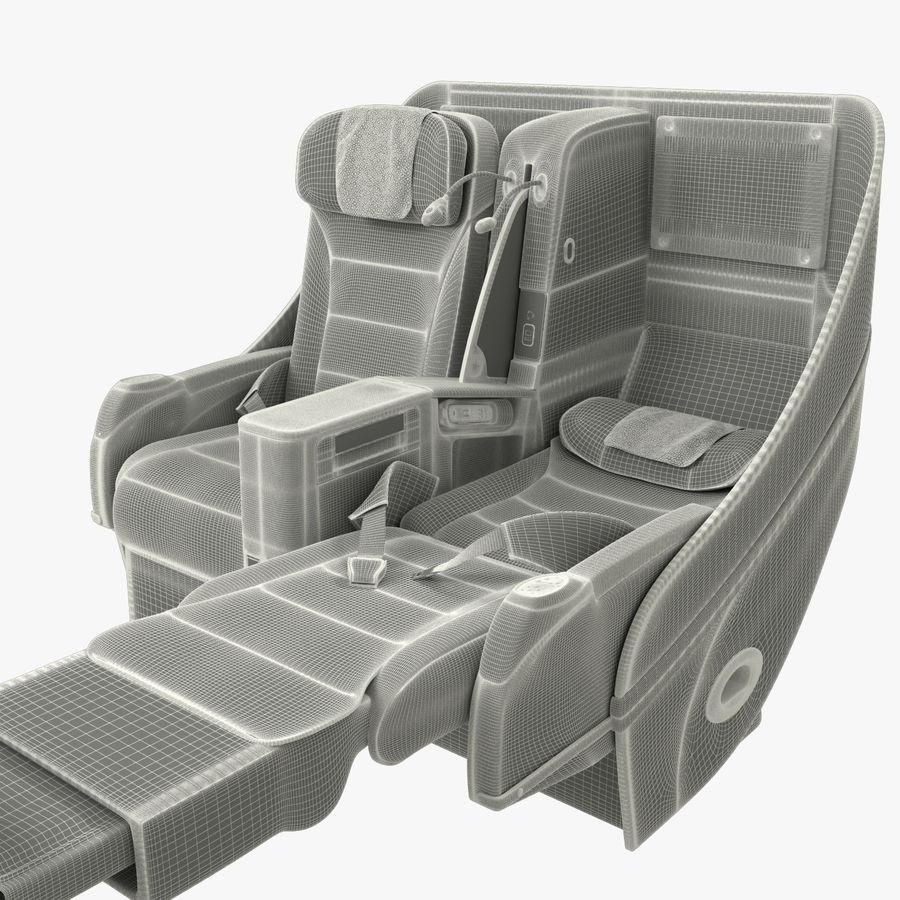 シート航空機 royalty-free 3d model - Preview no. 15