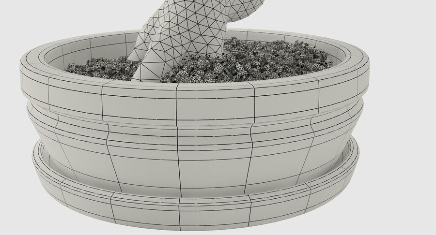 Bonsai Olive Tree royalty-free 3d model - Preview no. 13