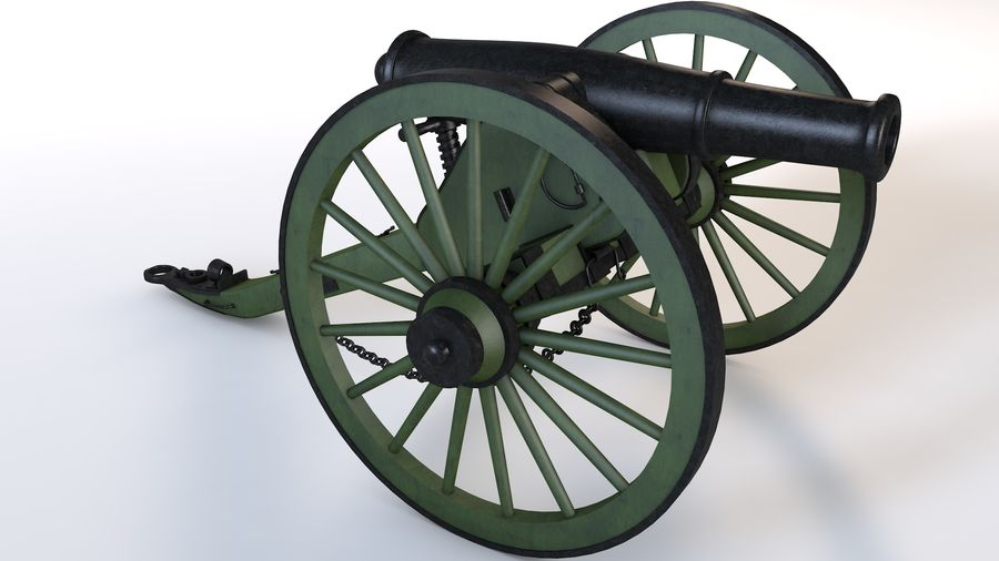 Napoleon cannon royalty-free 3d model - Preview no. 3