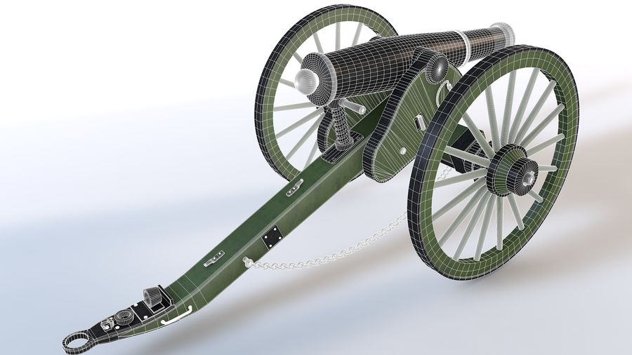 Napoleon cannon royalty-free 3d model - Preview no. 8