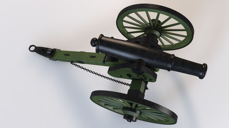 Napoleon cannon royalty-free 3d model - Preview no. 5