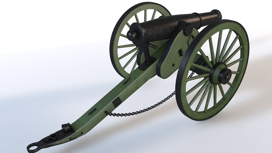 Napoleon cannon royalty-free 3d model - Preview no. 7