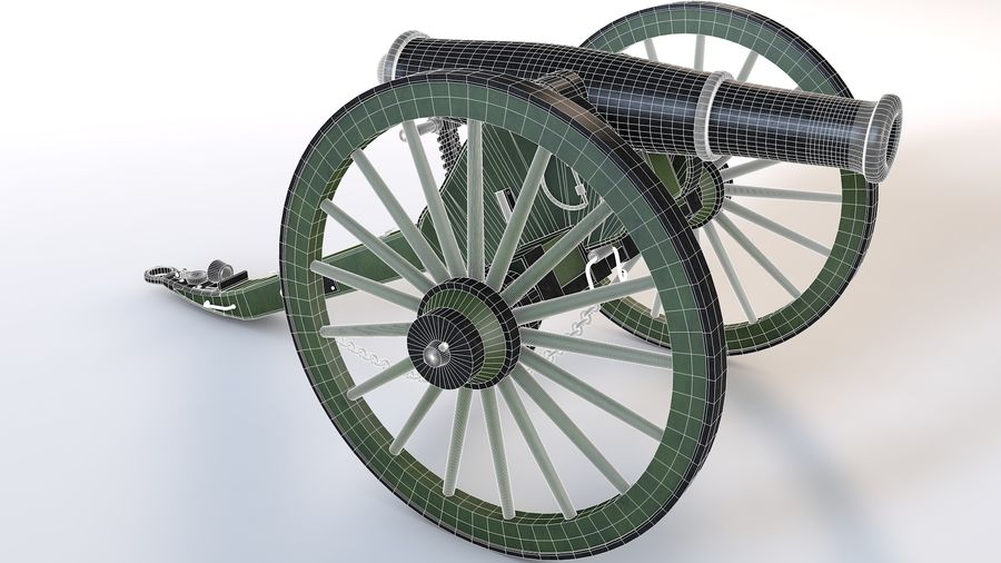 Napoleon cannon royalty-free 3d model - Preview no. 4