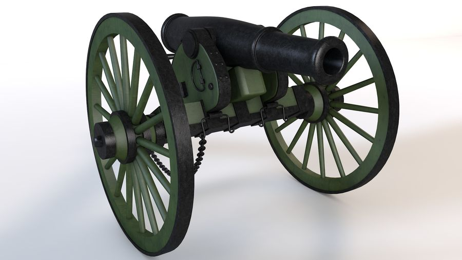 Napoleon cannon royalty-free 3d model - Preview no. 1