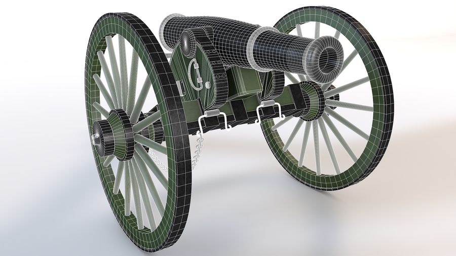 Napoleon cannon royalty-free 3d model - Preview no. 2