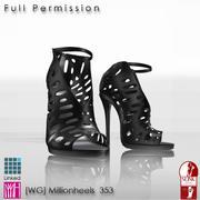 WG353 high heel for slink 3d model