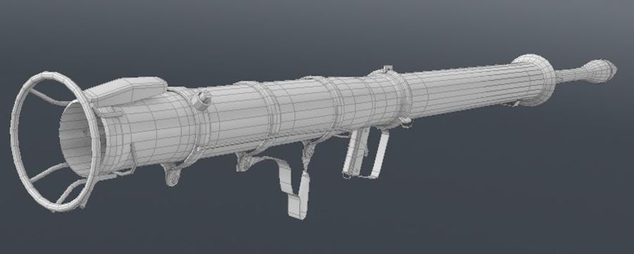 Bazooka royalty-free 3d model - Preview no. 9