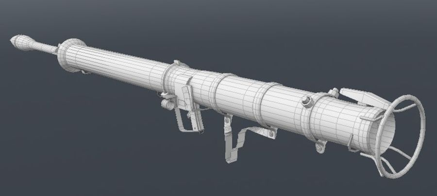 Bazooka royalty-free 3d model - Preview no. 8