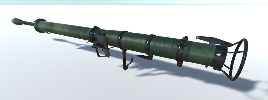 Bazooka royalty-free 3d model - Preview no. 2