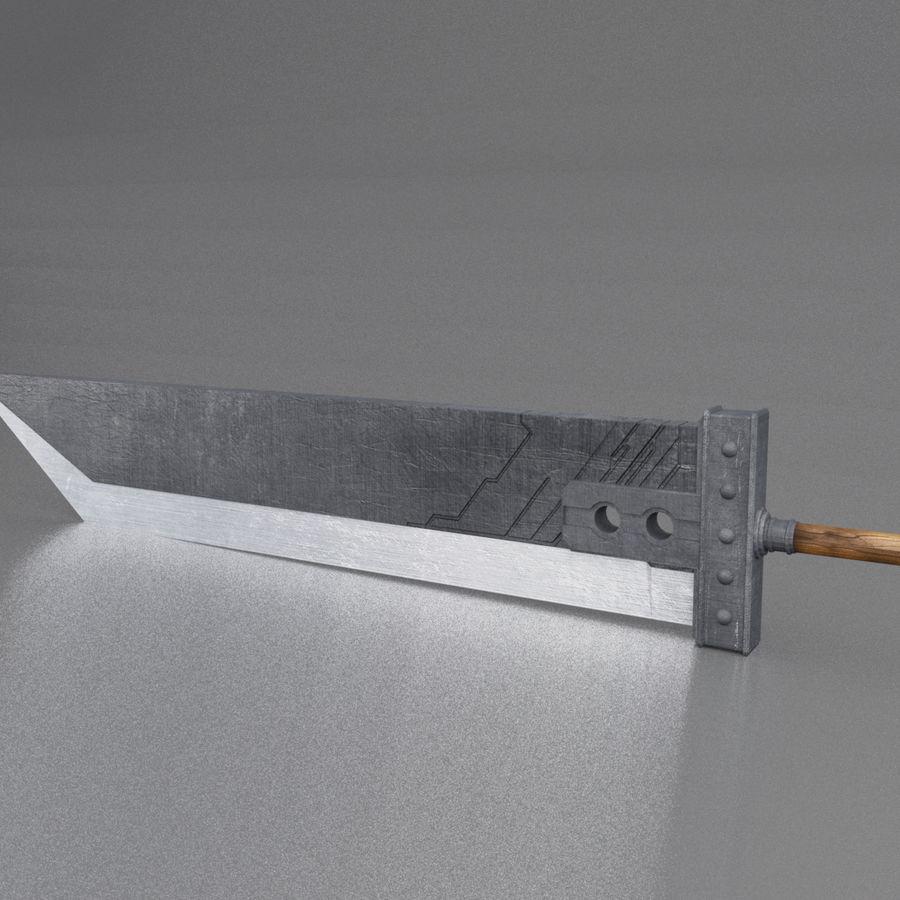 Épée Buster royalty-free 3d model - Preview no. 1