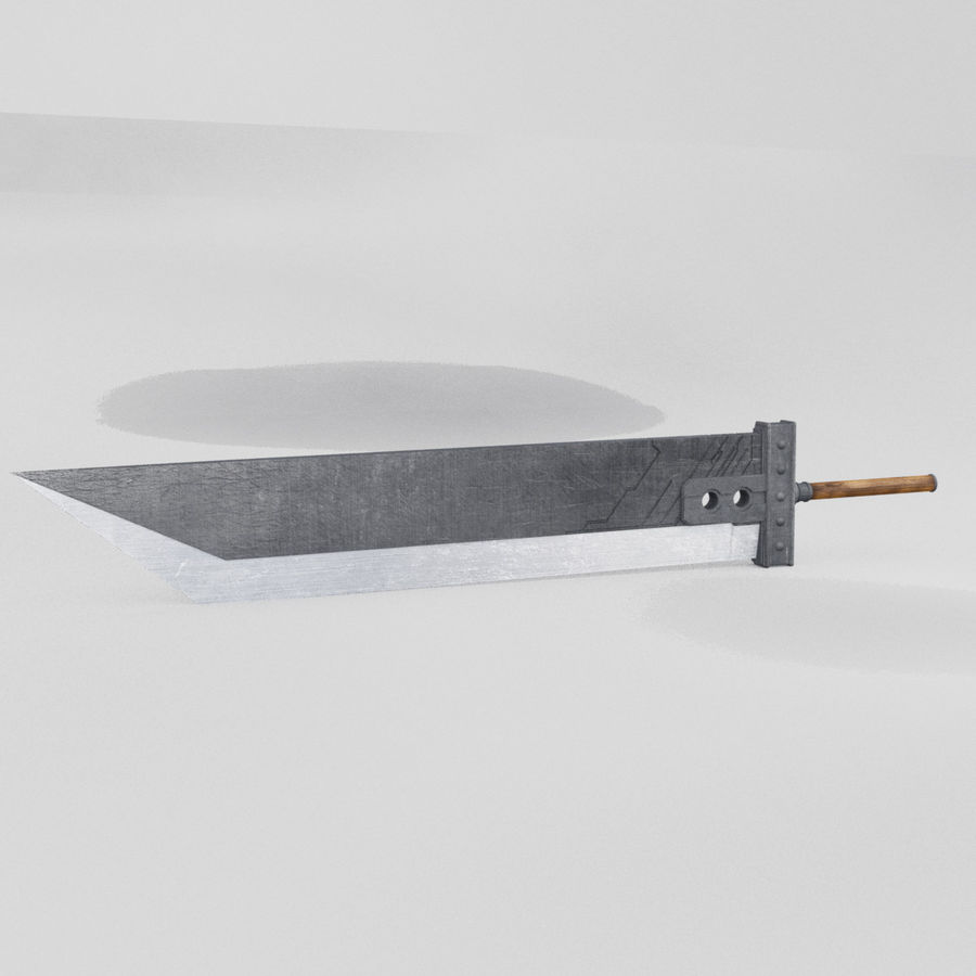 Buster sword royalty-free 3d model - Preview no. 2