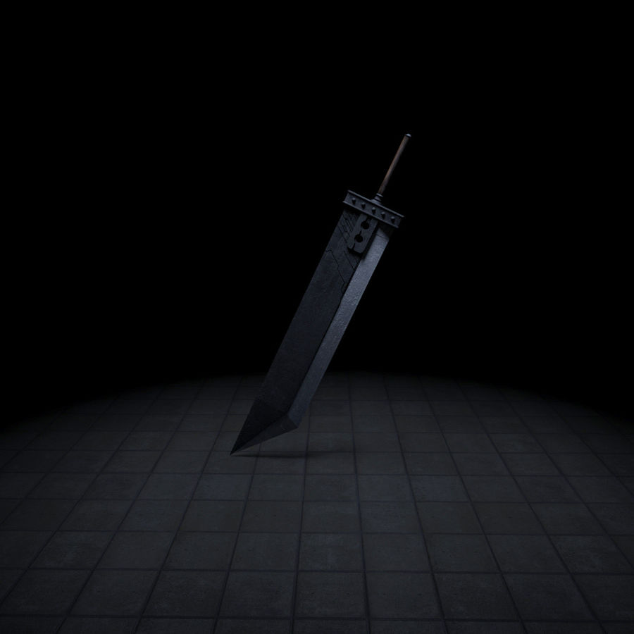 Buster sword royalty-free 3d model - Preview no. 3