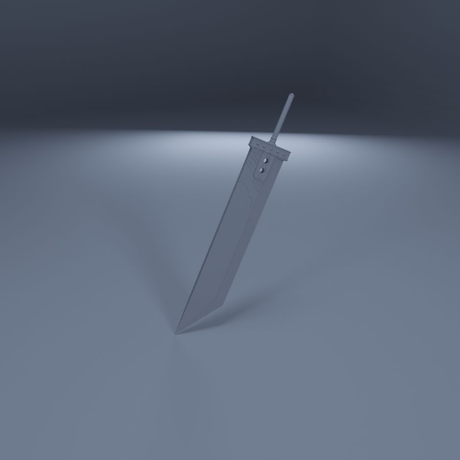 Épée Buster royalty-free 3d model - Preview no. 6