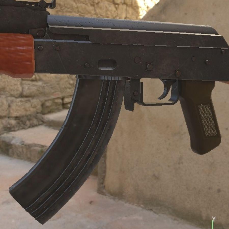 AK47 royalty-free 3d model - Preview no. 3