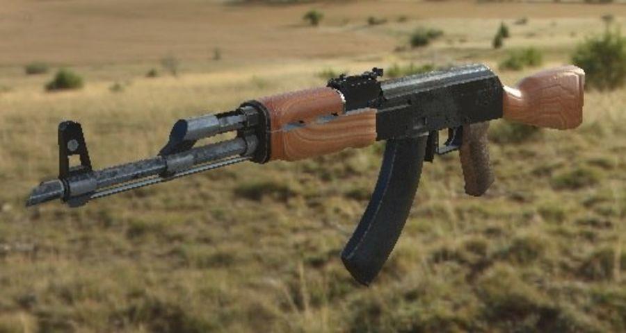 AK47 royalty-free 3d model - Preview no. 10
