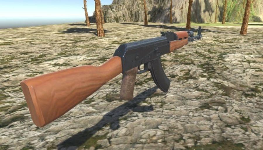 AK47 royalty-free 3d model - Preview no. 9