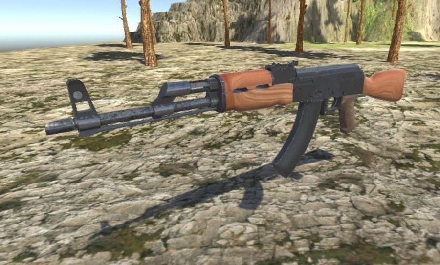 AK47 royalty-free 3d model - Preview no. 7