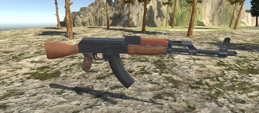 AK47 royalty-free 3d model - Preview no. 8