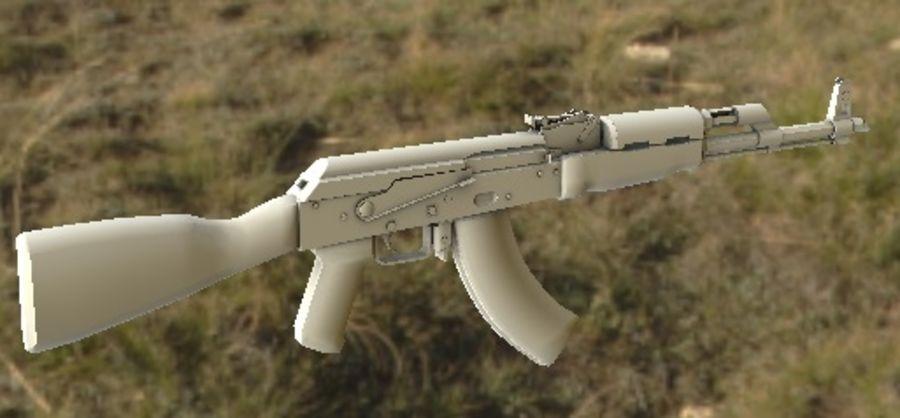 AK47 royalty-free 3d model - Preview no. 12