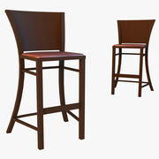 Bar stool dark 3d model