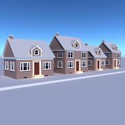 famille de maison 3d model