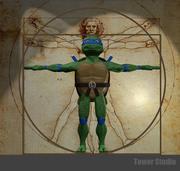 Genç Mutant Ninca Kablumbağalar 3d model
