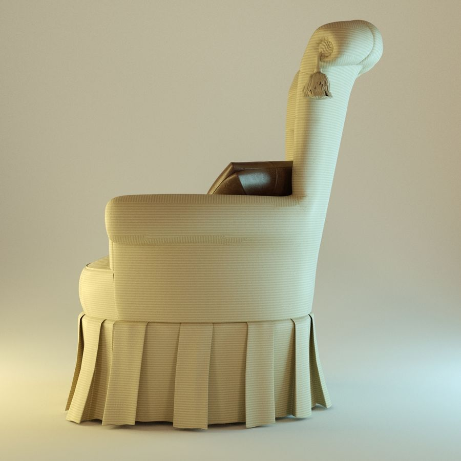 Armchair 27, yellow soft royalty-free 3d model - Preview no. 3