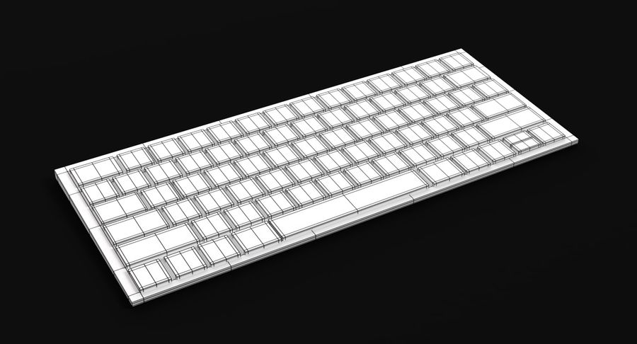 Apple Magic Keyboard royalty-free 3d model - Preview no. 6