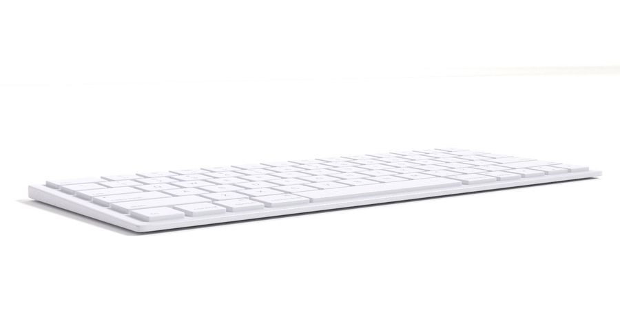 Apple Magic Keyboard royalty-free 3d model - Preview no. 4