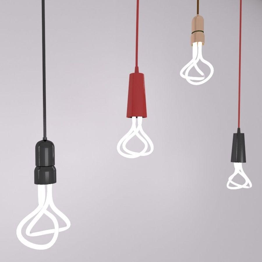 fluoreszierende Glühbirne royalty-free 3d model - Preview no. 3