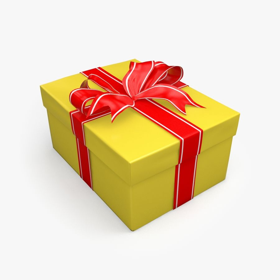 Christmas Present 5 royalty-free 3d model - Preview no. 2