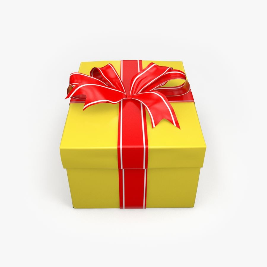 Christmas Present 5 royalty-free 3d model - Preview no. 3
