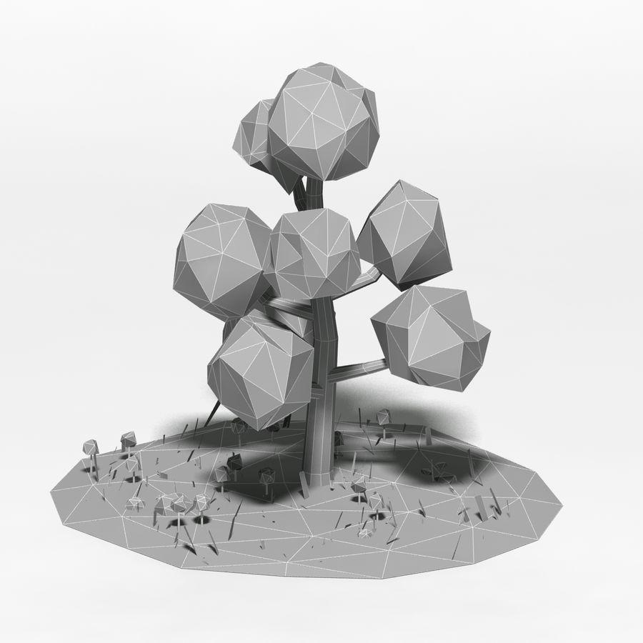 卡通低聚树场景 royalty-free 3d model - Preview no. 7