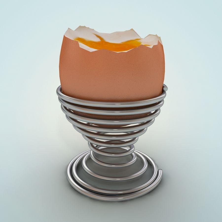 Huevo huevo huevo hervido royalty-free modelo 3d - Preview no. 2