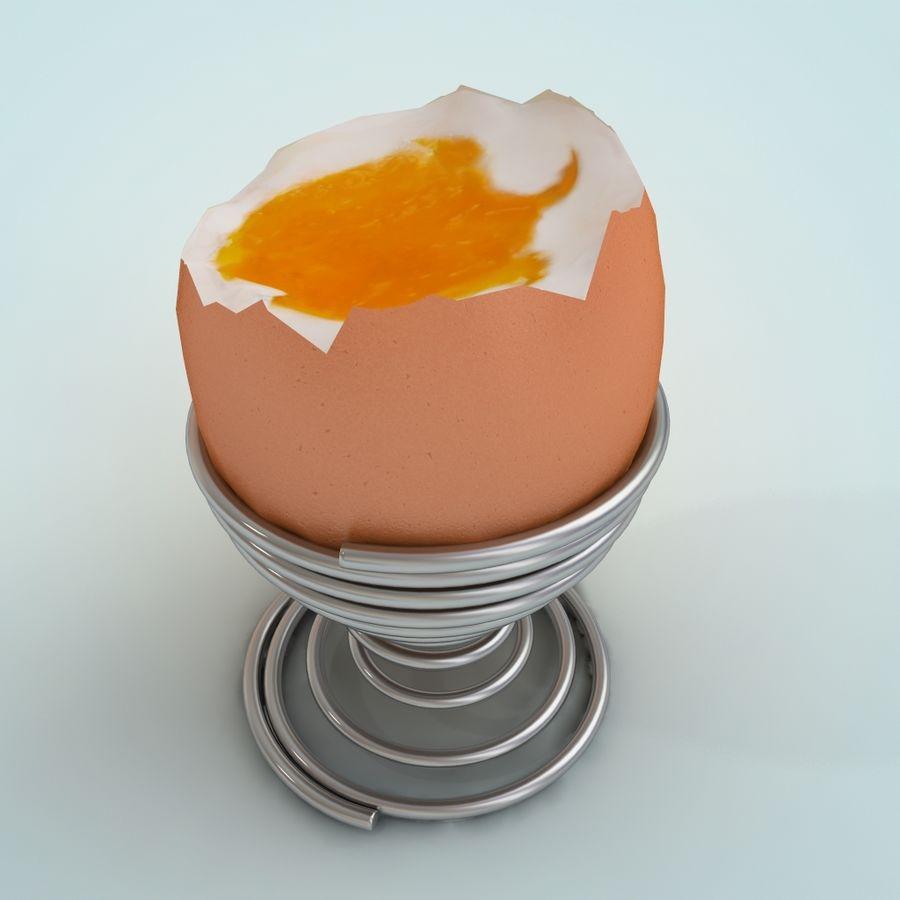 Huevo huevo huevo hervido royalty-free modelo 3d - Preview no. 5