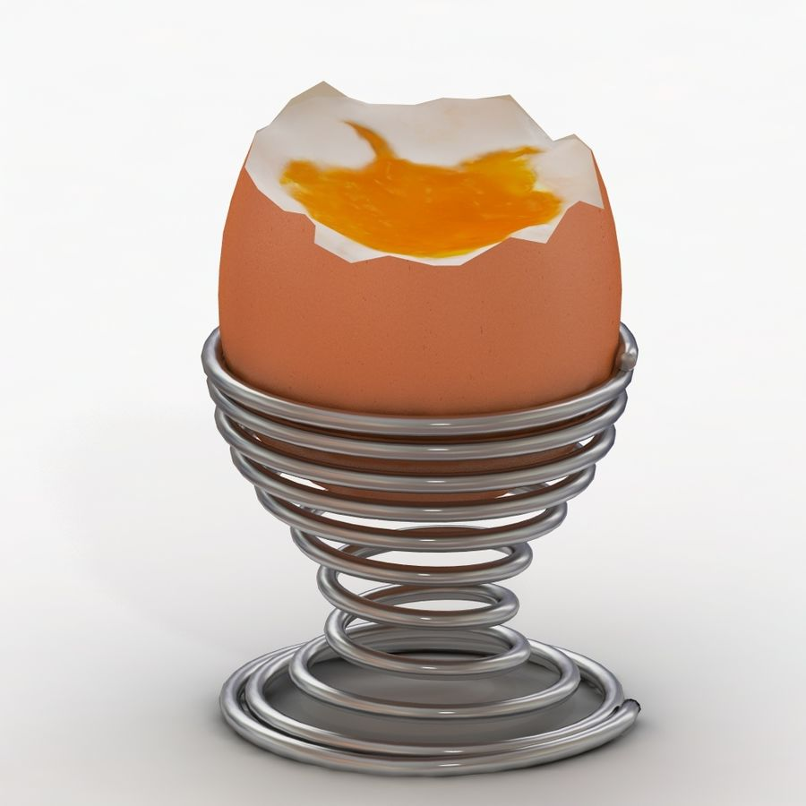 Huevo huevo huevo hervido royalty-free modelo 3d - Preview no. 1
